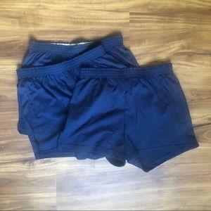 NWOT Soffe shorts navy, size M bundle (3 pairs)